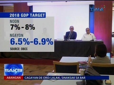 Saksi: Target na GDP ngayong 2018, ibinaba ng Phl Economic Managers
