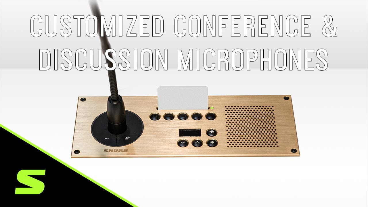 Customized Conferencing & Discussion Microphones