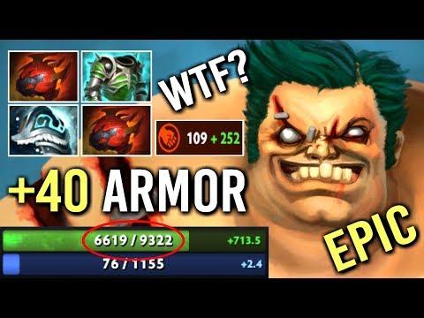 OMG 9300 HP +40 ARMOR Mid Pudge Immortal Raid Boss WTF Hook Epic Gameplay ft Miracle- Dota 2