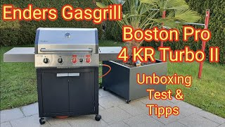 Enders Gasgrill Boston Pro 4 KR Turbo II   ALDI SÜD   Unboxing,Test, Tipps & Infos
