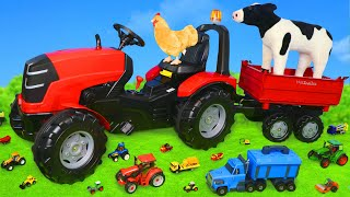 Tractor Surprise Toys: Farm Animals, Trucks & Toy Vehicles Play for Kids