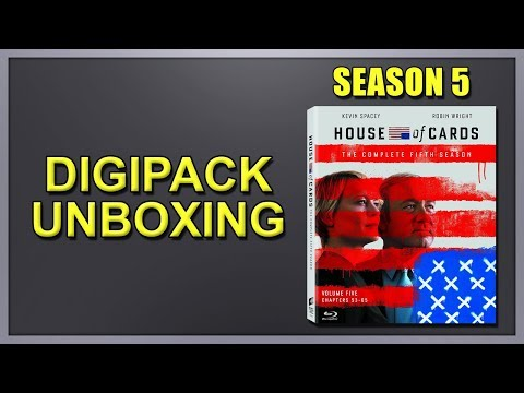 House of Cards: Season 5 Blu-ray Digipack Unboxing