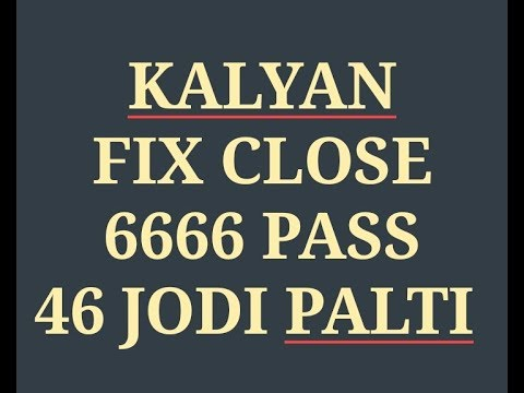 20/04/2018  KALYAN FIX OPEN FIX JODI  KALYAN ME FIX JODI TODAY