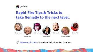 Rapid- Fire tips and tricks to take Genially to the next level
