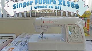 Wow Singer Futura XL580, new features and all that came with it!