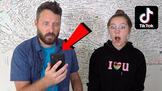 My DAD REACTS TO MY TIK TOKS!!! - I Got Grounded?