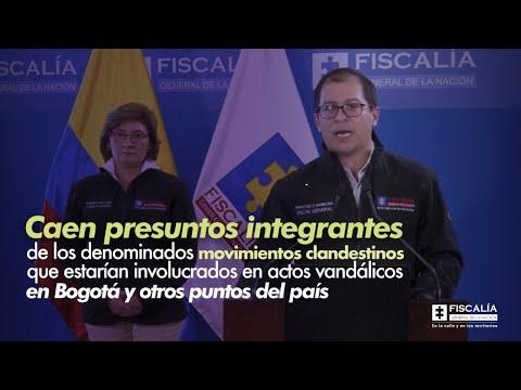 Fiscal Francisco Barbosa: Caen presuntos involucrados en actos vandálicos