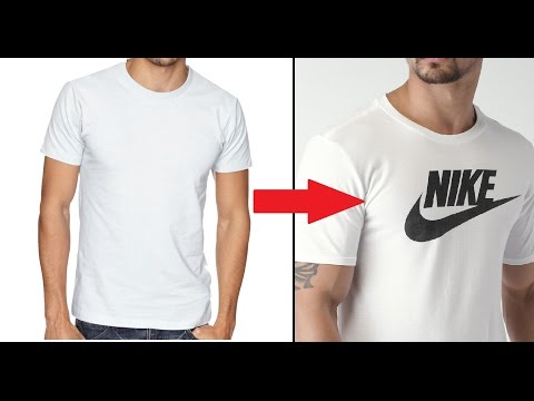 Video Make Your Own DIY Custom Brand T-Shirt Without Transfer Paper Tutorial
