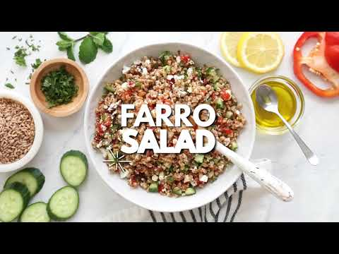, title : 'Farro Salad with Feta, Cucumbers and Sun Dried Tomatoes