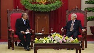 Tổng Bí thư Nguyễn Phú Trọng tiếp Chủ tịch Quốc hội Myanmar