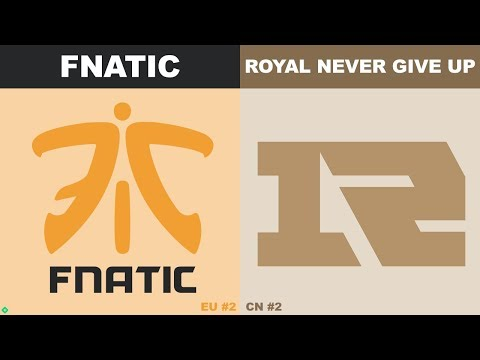 FNC vs RNG - Worlds 2019 Group Stage Day 7 - Fnatic vs Royal Never Give Up