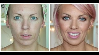 ♡ Full Coverage Foundation Routine for Wrinkles & Acne Prone Skin ♡