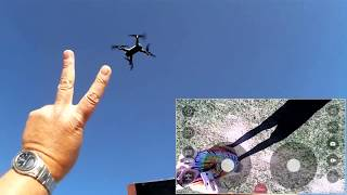 SG700 Optical Position Folding Selfie FPV Camera Drone Flight Test Review