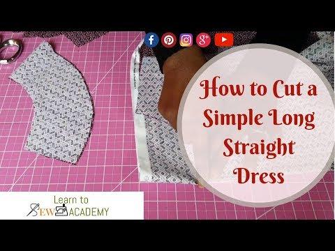 How to Cut a Simple Dress - Long Straight Maxi Dress DIY