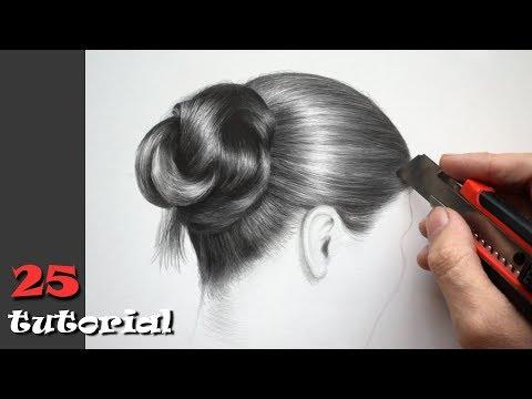 Как нарисовать волосы карандашом. Необычный способ!