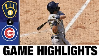 Christian Yelich Homers In 8-3 Win Vs. Cubs   Brewers-Cubs Game Highlights 7/25/20