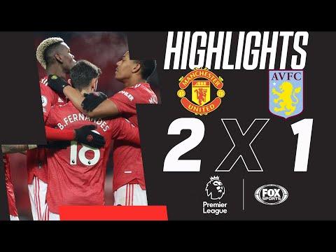 Manchester United 2 x 1 Aston Villa pela Premier League! Red Devils encostam na liderança