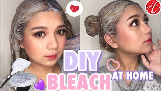 DIY BLEACH AT HOME + DARK ASH BLONDE HAIRCOLOR 😍I HORTALEZA