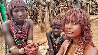 The most stylish hair cut I ever had. African tribe hair style Hammer Ethiopia.
