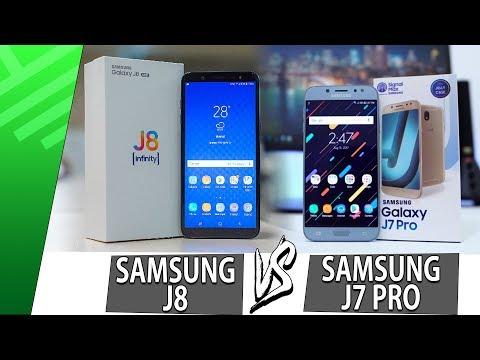 Samsung J8 VS Samsung J7 Pro | Enfrentamiento | Review | Unboxing