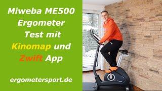 Miweba ME500 Ergometer mit Zwift und Kinomap im Test