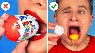 ช็อกโกแลต VS สิ่งของจริง   การแกล้งฮาๆ!! ทดสอบการลิ้มรส by 123 GO! CHALLENGE