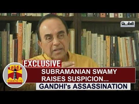 EXCLUSIVE--Mahatma-Gandhis-Assassination--Subramanian-Swamy-raises-Suspicion-Thanthi-TV