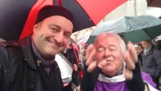 Il Grullo al funerale di Franco Casaglieri intervista Don Giuseppe Billi
