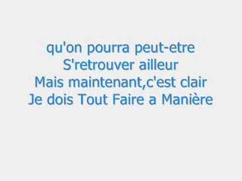Música Je Dois Tout Faire a Manière
