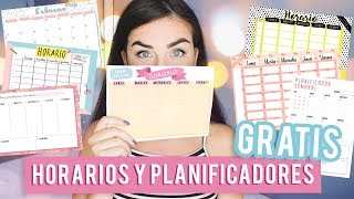 HORARIOS Y PLANIFICADORES PARA DESCARGAR GRATIS - Back To School / Regreso A Clase |Eynin24