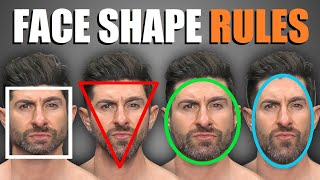 4 Face Shape Rules EVERY GUY SHOULD FOLLOW! (To Pick The BEST Haircut & Facial Hair for YOUR Face)