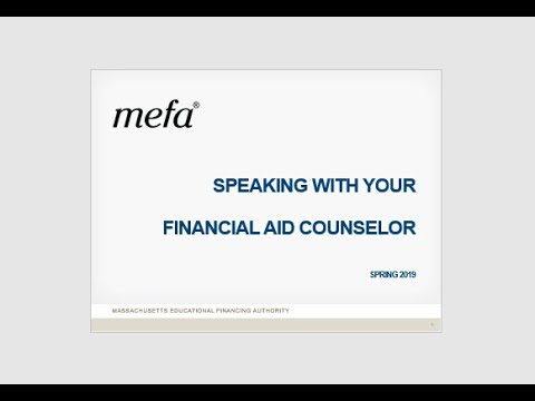 Speaking With Your Financial Aid Counselor