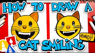 How To Draw The Cat Smiling Emoji 😺