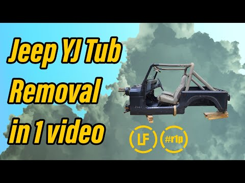 Complete Jeep YJ Tub Removal - In 1 Video | Rover 1 Project