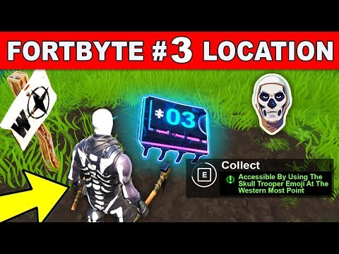 Fortnite Fortbyte 3 Location Accessible Using Skull Trooper