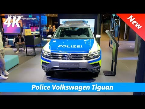 German Police Volkswagen Tiguan Allspace - quick look in 4K | Interior - Exterior and Police lights!