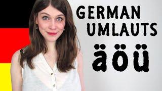 GERMAN UMLAUTS for Dummies - How To Pronounce Ä, Ö, Ü