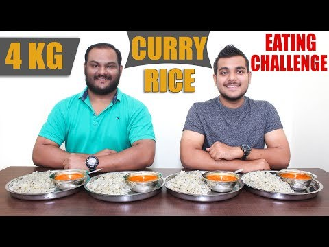 MASSIVE 4 KG CURRY RICE EATING CHALLENGE   Dal Fry & Jeera Rice Eating Competition   Food Challenge