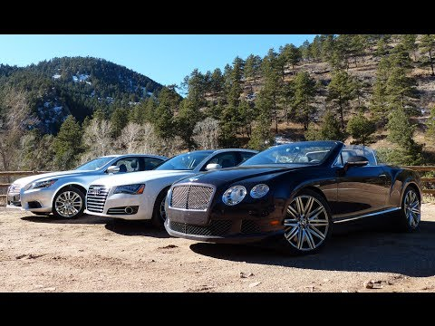 2014 Bentley Continental GT vs Audi A8 TDI vs Lexus LS460 Mashup Review
