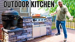 INSANE Outdoor Kitchen Build - Building An EPIC Deck Pt. 5