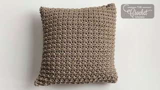 Crochet Simple Textured Pillow