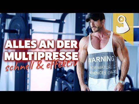 Die beste Übung für jeden Muskel mit Multipresse