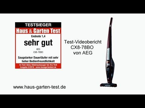 Testvideo: Akkusauger AEG CX8-78 BO (Testsieger)