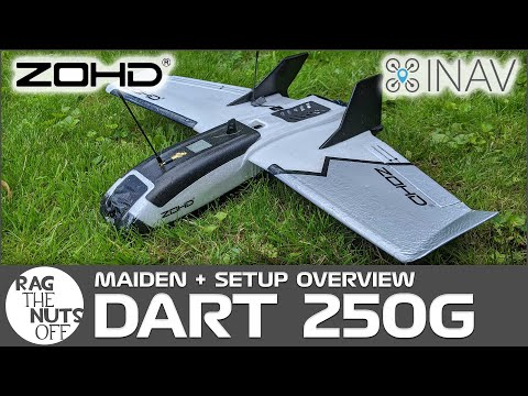ZOHD Dart 250g Maiden & Overview - Setup with iNav & Li-on Batteries