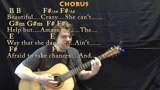 Beautiful Crazy Luke Combs Guitar Lesson No Capo Th Clip