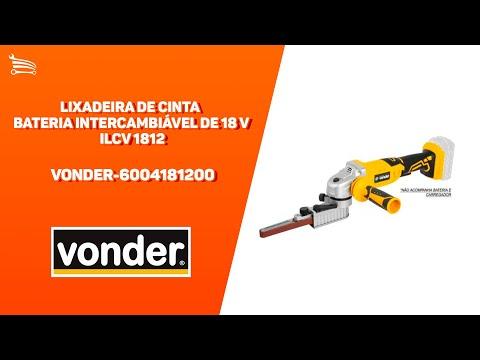 Lixadeira de Cinta Bateria Intercambiável de 18 V sem Bateria e sem Carregador Ilcv 1812  - Video