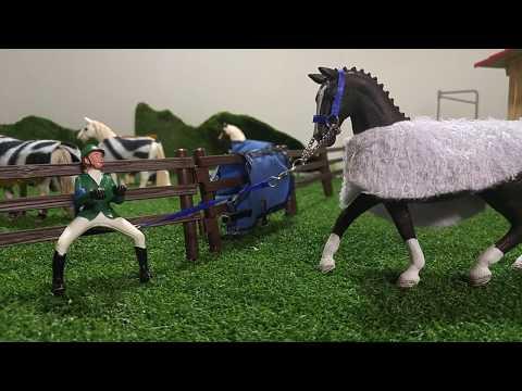 Schleich morning routine with Melody . kristina kashytska  new horse star stable kids