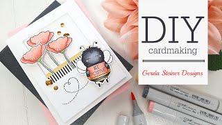 Gerda Steiner Designs | Happy Bee Day | DIY Cardmaking Tutorial By Tina Smith