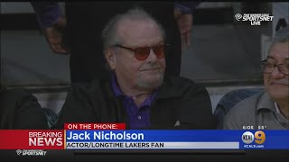 Lakers Super Fan Jack Nicholson Pays Tribute To Kobe Bryant