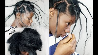 WHAT 7 Days Of African Hair Threading Did To My Natural Hair!- HOW TO